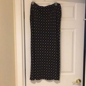Long knit midi/maxi skirt.